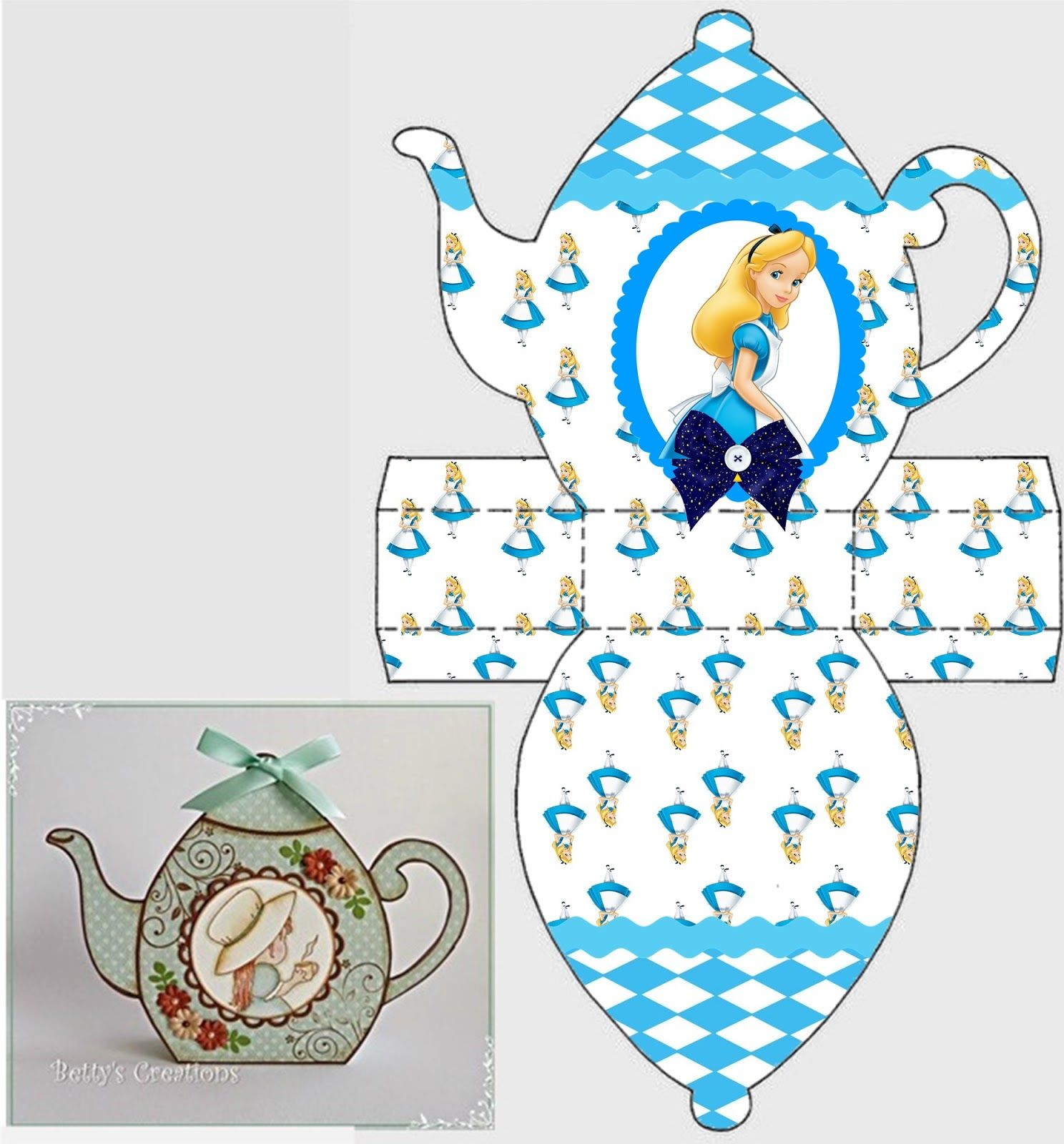 Alice In Wonderland Free Printable Teapot Box