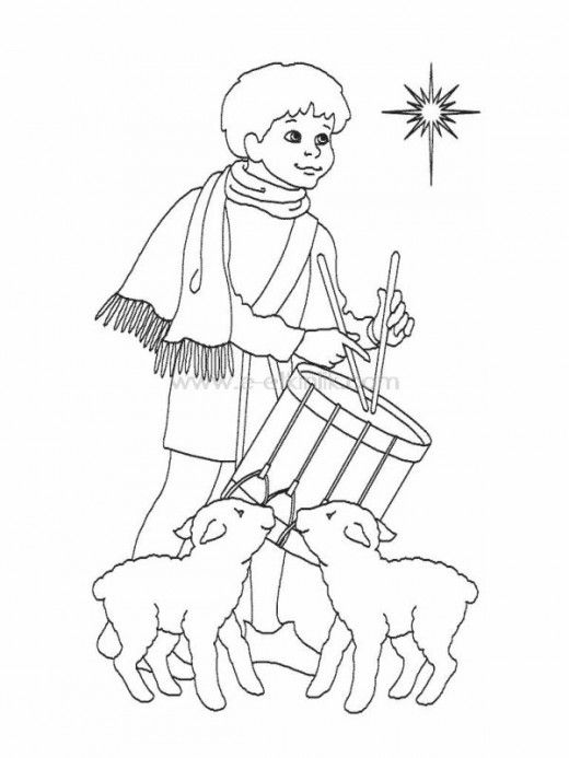 The Little Drummer Boy Printables Flag Coloring Pages Bear