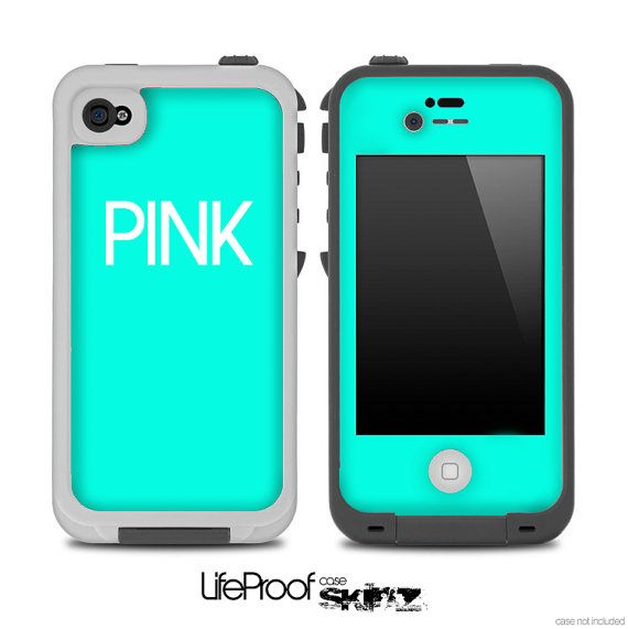iphone 4s lifeproof case teal pink skin for the iphone 4 4s or 5 lifeproof 2803
