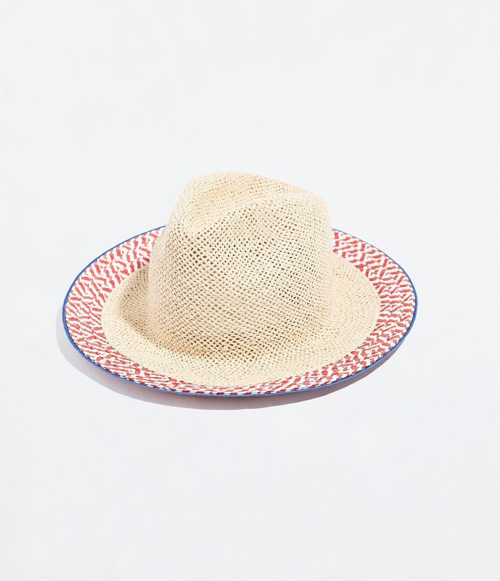 d127423b70d42  rafia  sombrero  playa  · ZARA · 12