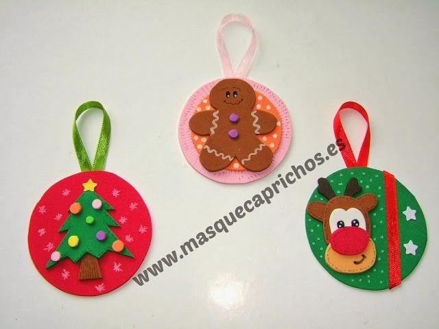 Especial navidad bolas planas para decorar el rbol de - Manualidades para decorar el arbol de navidad ...