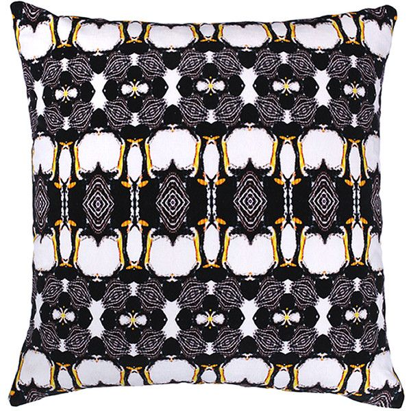 Anjali Hood Ltd. - Atlantic Yellow Nosed Albatross Velvet Cushion (1.890 NOK) ❤ liked on Polyvore featuring home, home decor, throw pillows, yellow home decor, yellow throw pillows, velvet accent pillows, fishing home decor and bird home decor