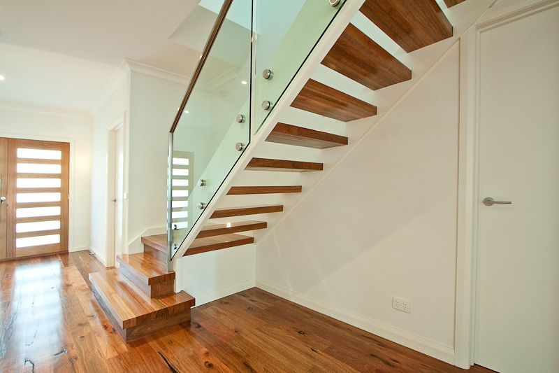 Best Spotted Gum Modern Timber Stainless Steel Handrail 640 x 480