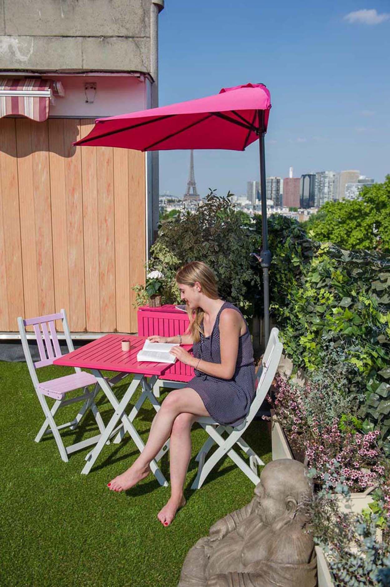 Mobilier écoresponsable pliant adapté aux balcons et terrasses