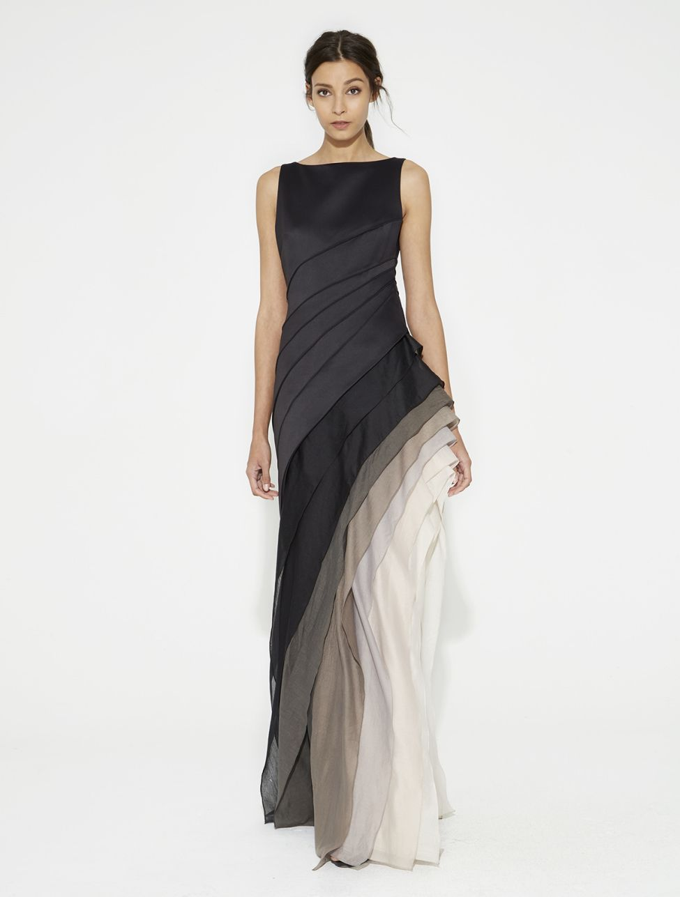 766be1703f6d Halston Ombre Voile Satin Gown nel 2019