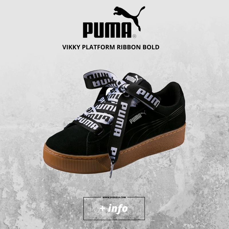 fcbb8928b59 PUMA Vikky Platform Ribbon Bold ! Elegancia