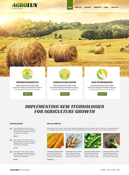 Template 48672 - Agriculture Company Responsive Joomla Template ...