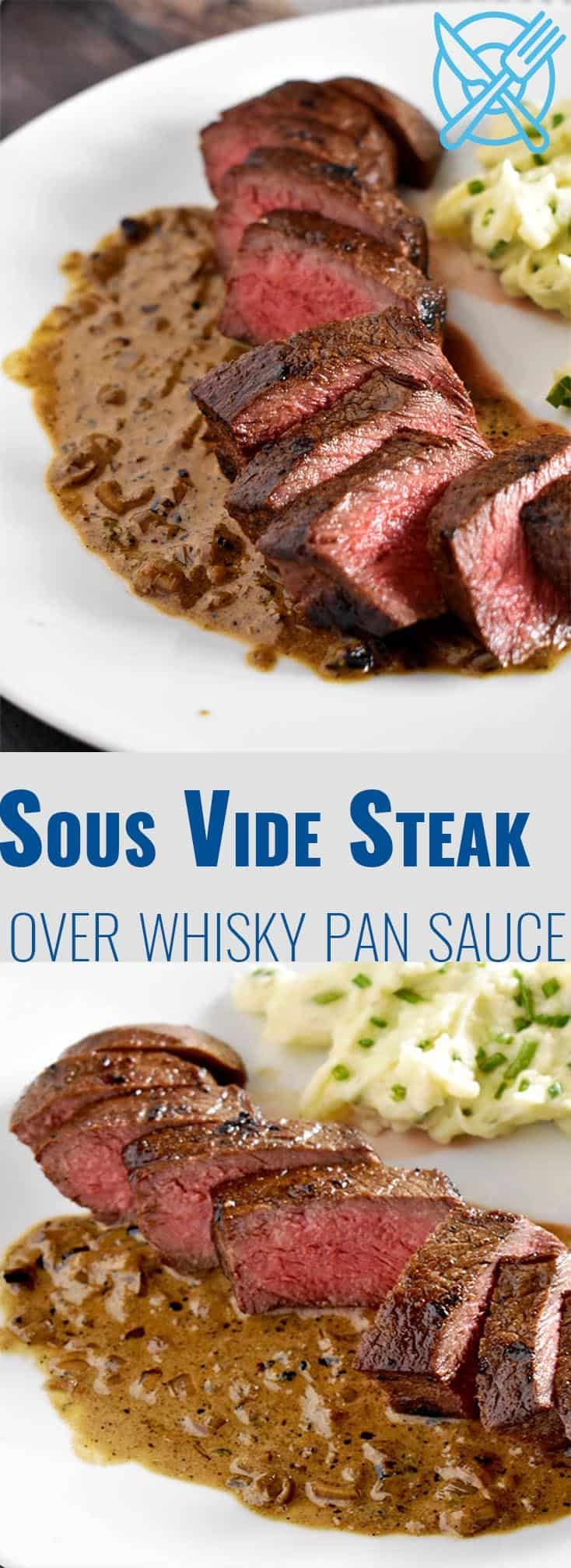 Photo of Sous Vide Steak Recipe with Whiskey Pan Sauce | Nerd Chefs