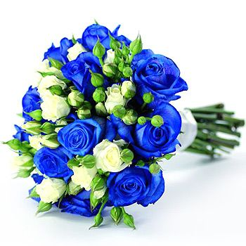 Google Image Result For Http Www Flowers24hours Co Uk Blue Flowers Bouquetblue