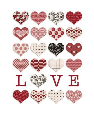Would Be Cute To Make With Sizzix Instead Of A Printout Printable HeartsFree StickersFree PrintablesLove HeartScrapbook