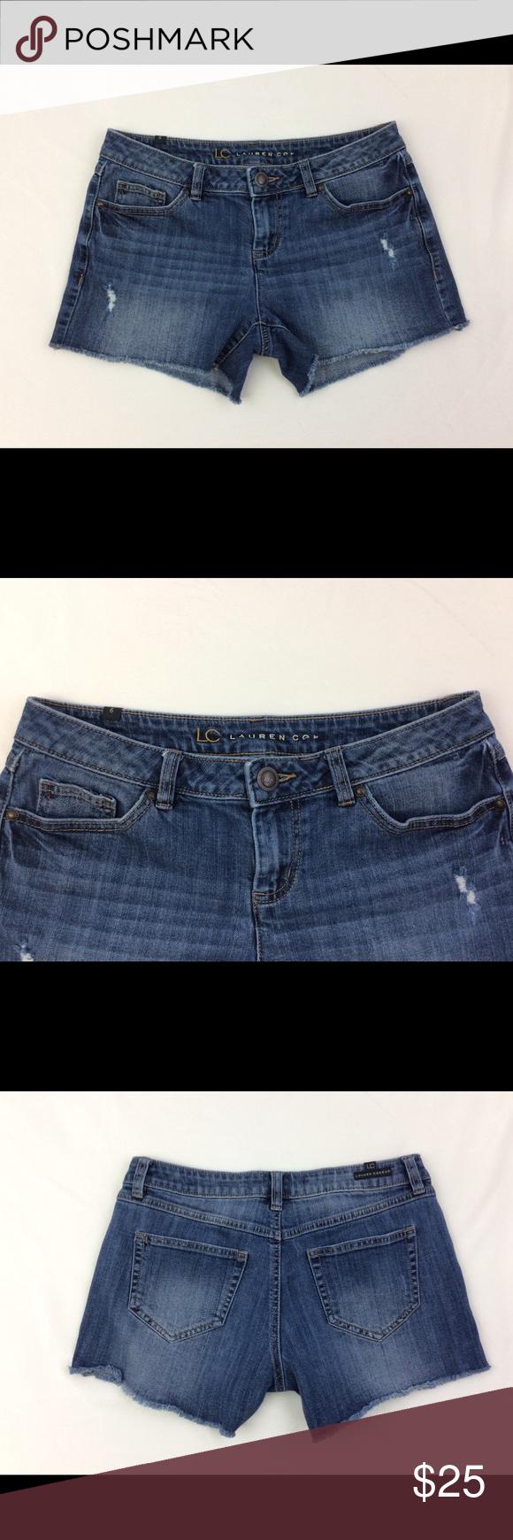 LC Lauren Conrad shorts size 14 orange belt cutoff LC