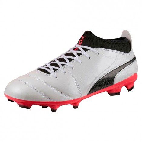 Puma ONE 17.3 FG 104074 voetbalschoenen puma white | Voetbal