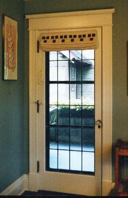 An Liqued Roman Shade Folds Out Of The Way On A Door Craftsman Style Doors