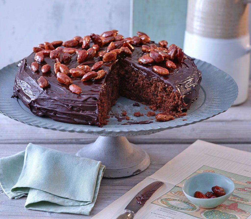 Pastinaken Schokoladen Kuchen Mit Gebrannten Mandeln Rezept Schokoladen Kuchen Gebrannte Mandeln Rezept Und Kuchen
