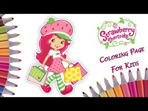 Coloring Drawings Strawberry Shortcake Coloring Book 🍓 Fun ART ...