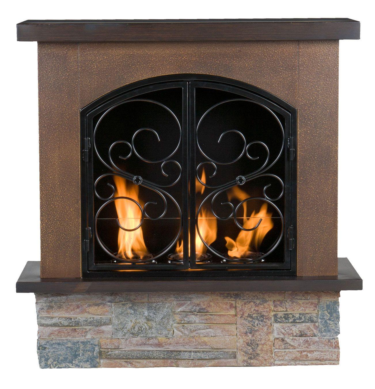 Gel Aspen Portable Indoor Outdoor Gel Fuel Fireplace Sei Fa7004