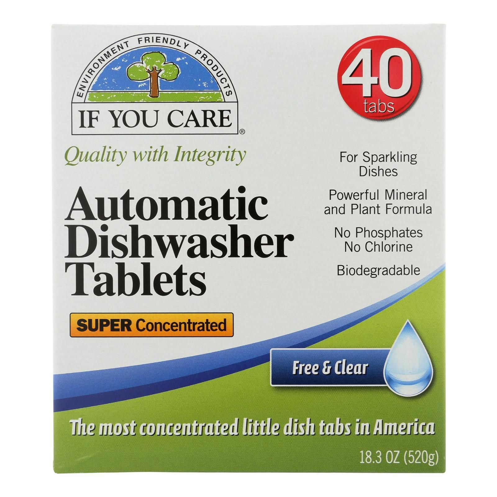 If You Care Automatic Dishwasher Tabs 40 Count Case Of 8 Dishwasher Tabs Dishwasher Tablets Biodegradable Products