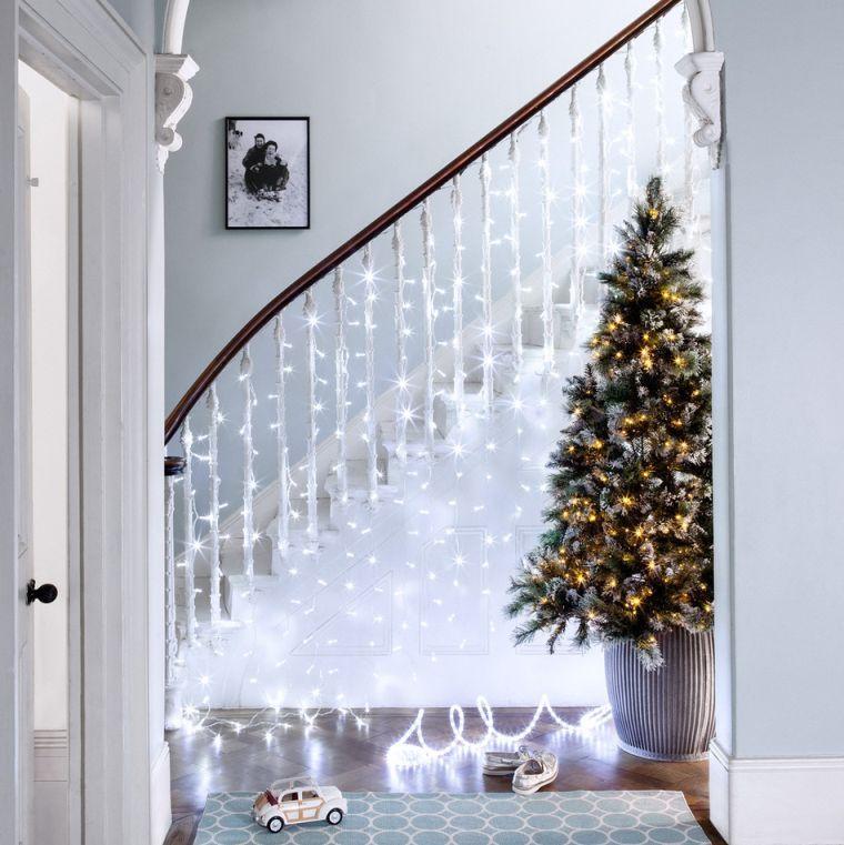 Idee Deco Lumineuse Noel Guirlande Lumineuse Interieur