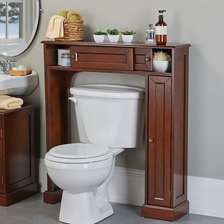 Weatherby Bathroom Over The Toilet Storage Cabinet Toilet Storage Apartment Storage Diy Kitchen Cabinets In Bathroom