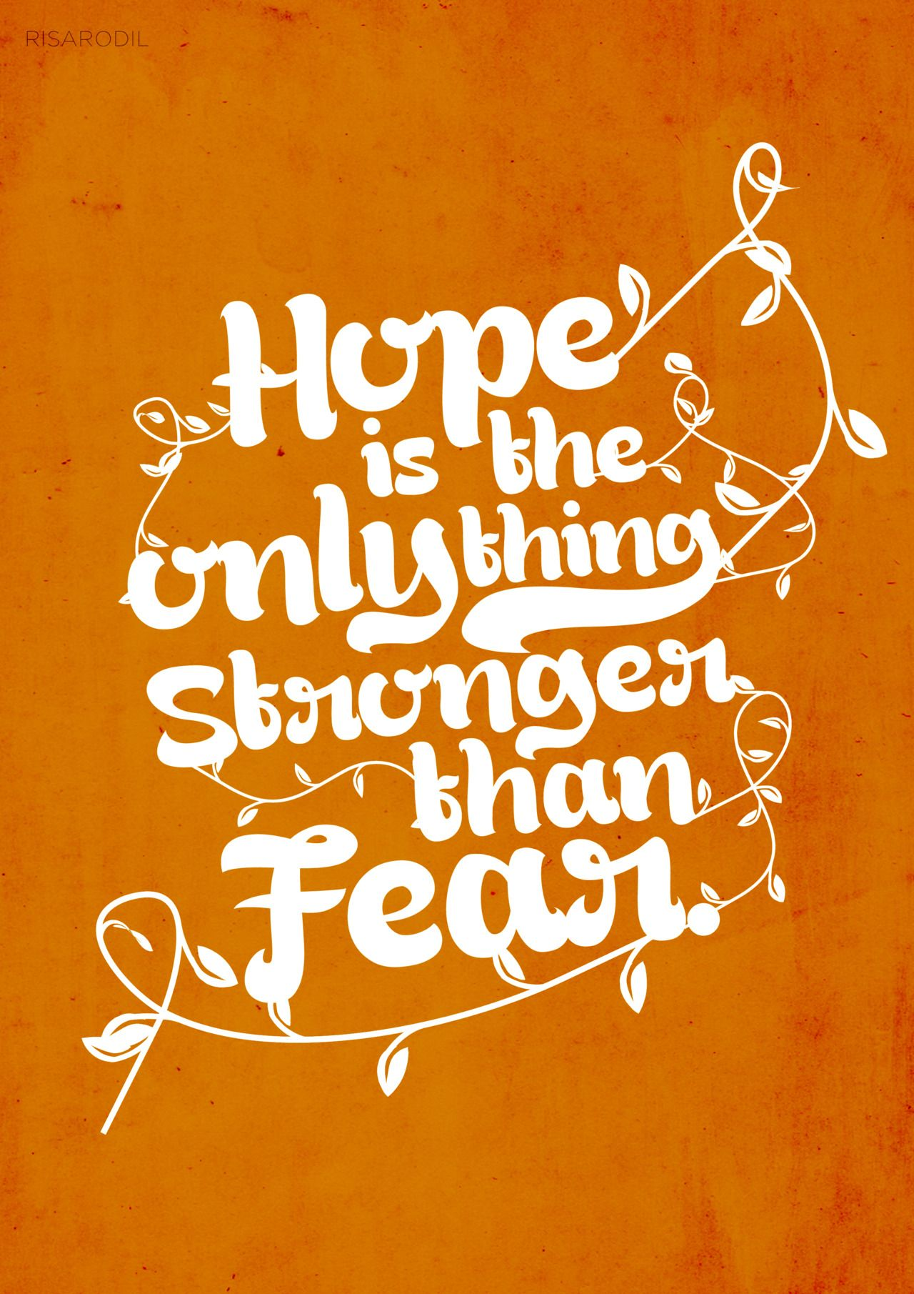 "Quotes About Hunger Hope Is The Only Thing Stronger Than Fear"" The Hunger Games"