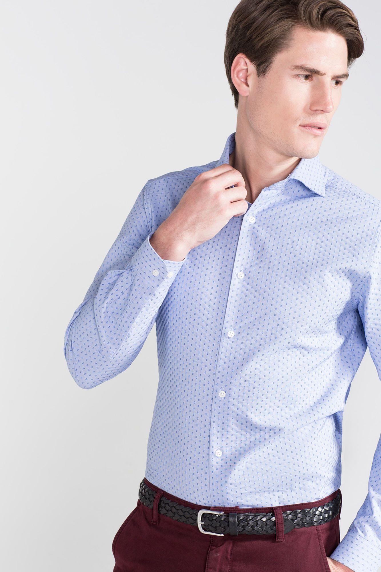 Camisa de vestir jacquard | Camisas | Cortefiel