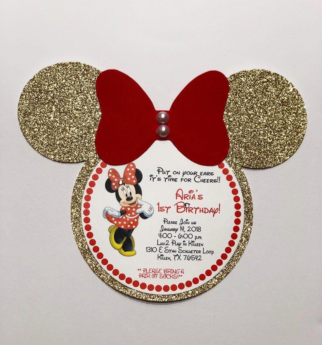 Minnie Mouse Invitation Minnie Mouse Birthday Invitation Minnie