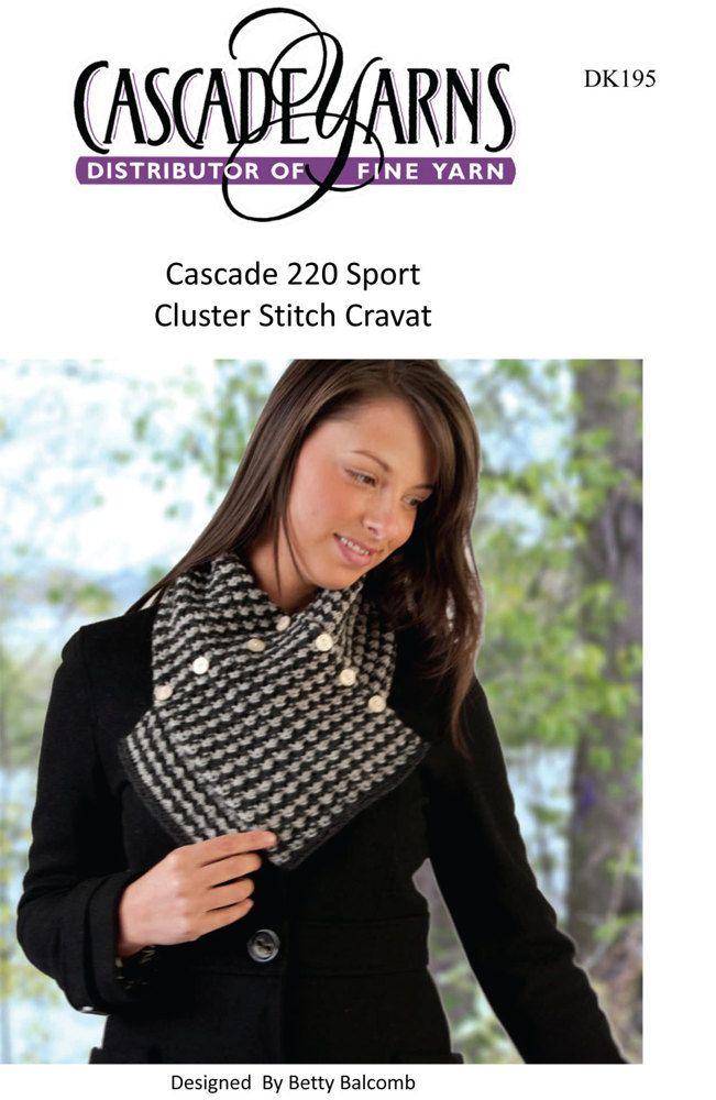 Cluster Stitch Cravat in Cascade 220 Sport - DK195 | knitting ...