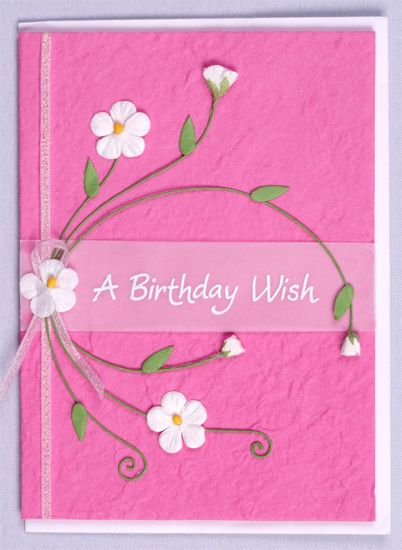 homemade Greeting Cards with butterflies – Birthday Card Sample
