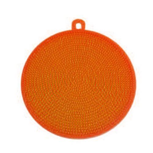 Photo of Kitchen Accessories Silicone Dish Washing Brush Bowl Pot Pan Wash Cleaning Brushes ORANGE
