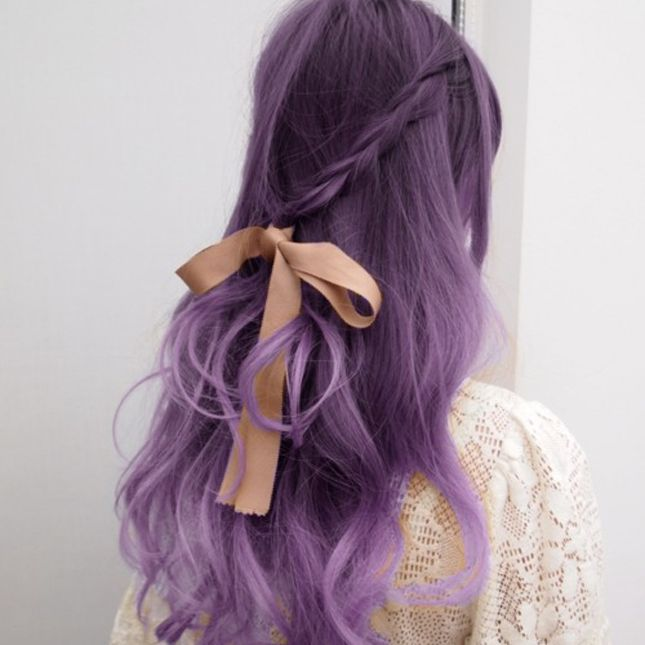 How To Brown Roots Lavender Hair Dye Stella