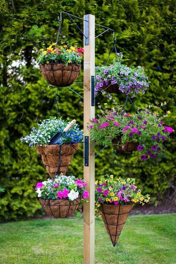 Top Super Hanging Flower Basket Ideas Hanging Basket Garden