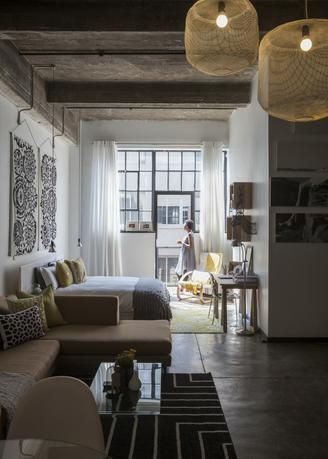 A Small Studio Packs Big Style In South Africa Aphrochic Modern Soulful Style Home Interior Tiny Apartments