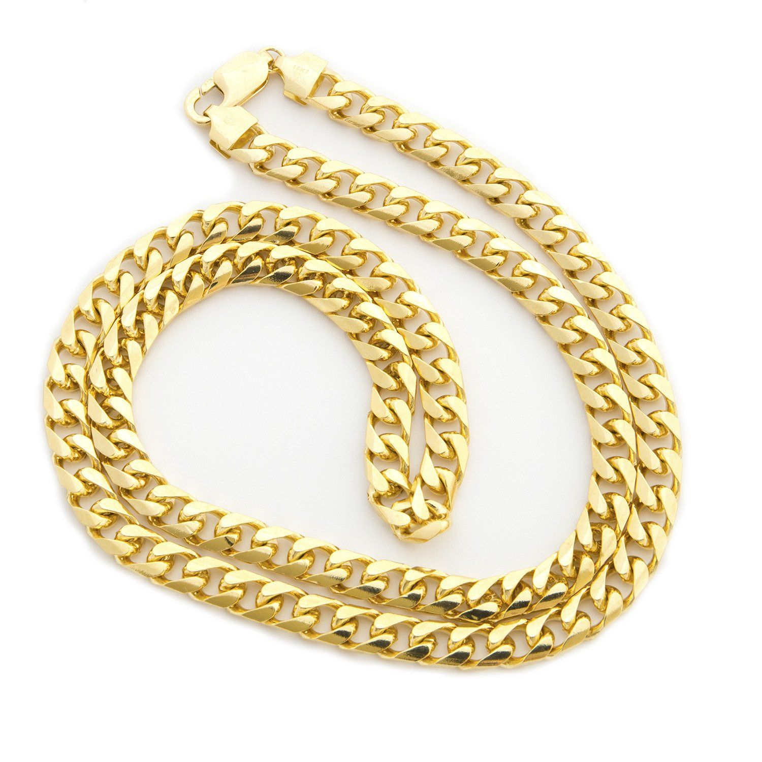 Solid 14k Yellow Gold 6 5mm Heavy Miami Cuban Link Chain