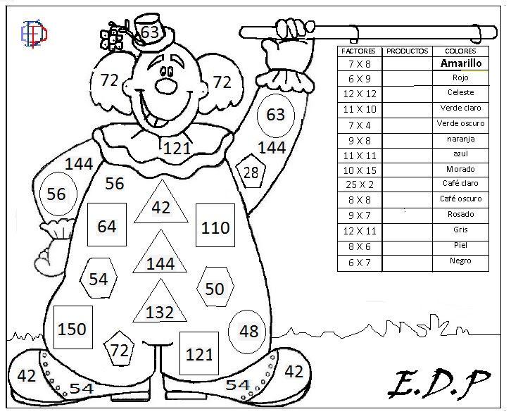 Matemática Entretenida EDP: LÁMINAS PARA PINTAR | Educación | Pinterest