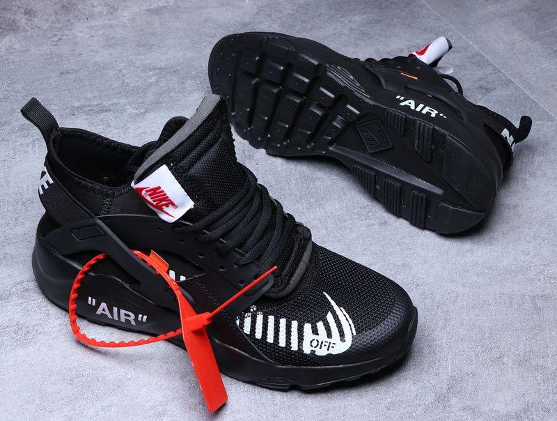 8bee98468ab Official Men Nike Air Huarache OFF White Beaverton Oregon Black White