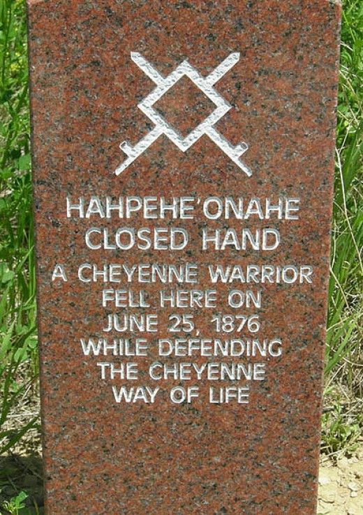 Marker stone on the battlefield
