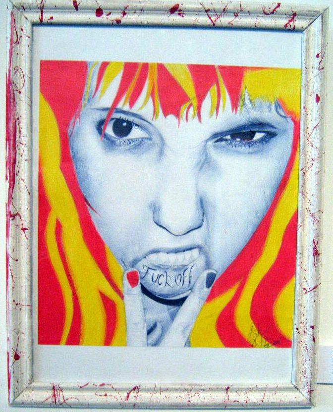  FUCKOFF  Técnica mixta s/papel 40x30cm 2011 Disponible-