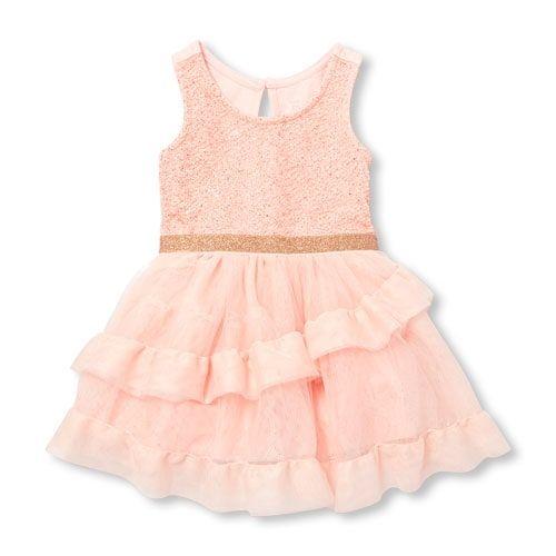3a338279e Baby Girls Sleeveless Rose Gold Glitter Tutu Dress Brooklyn Style, Rose  Gold Glitter, Children's