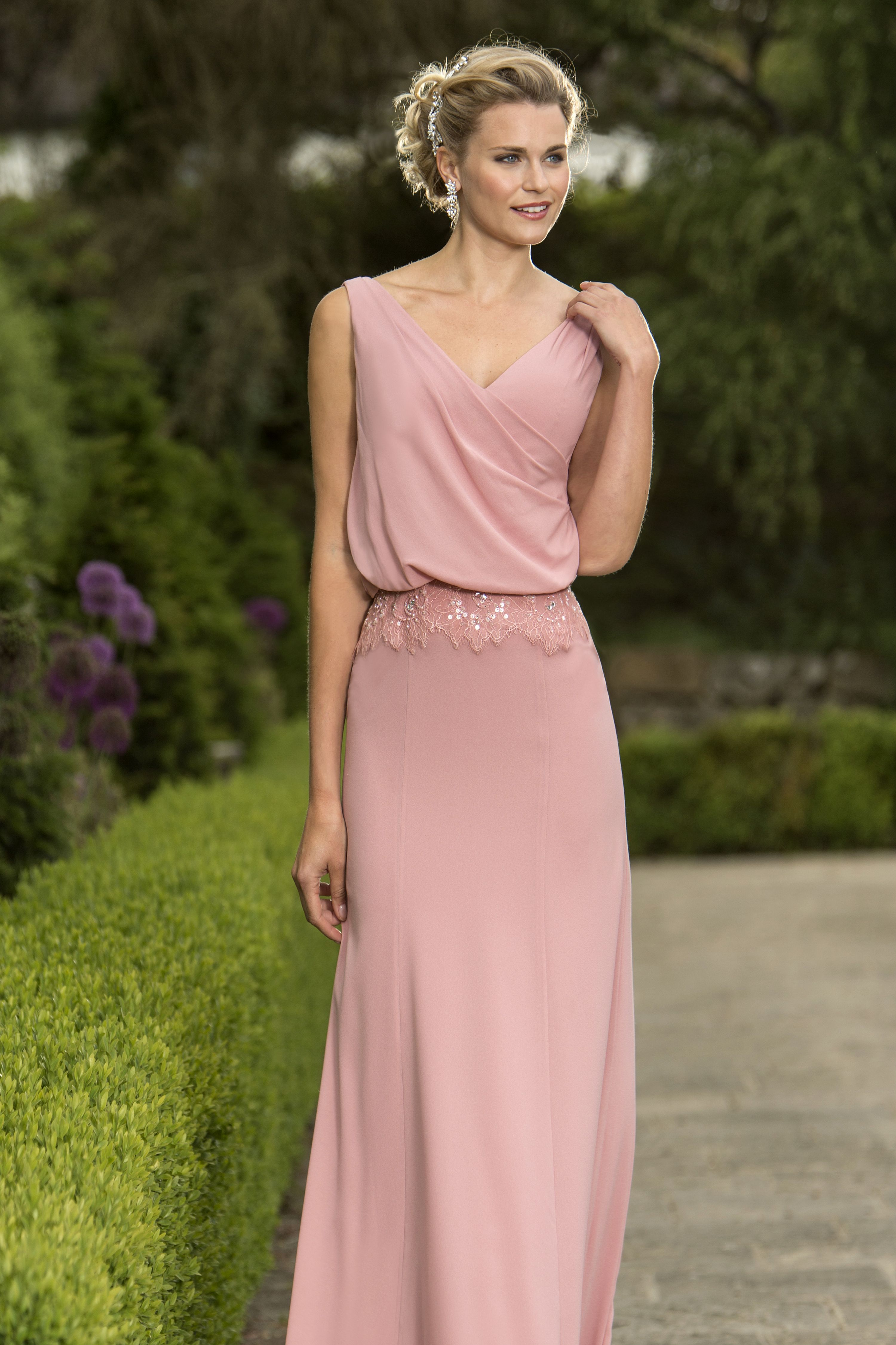 Juliette slim bridesmaid dress with blouson style bodice available juliette slim bridesmaid dress with blouson style bodice available in chiffon or georgette chiffon ombrellifo Image collections