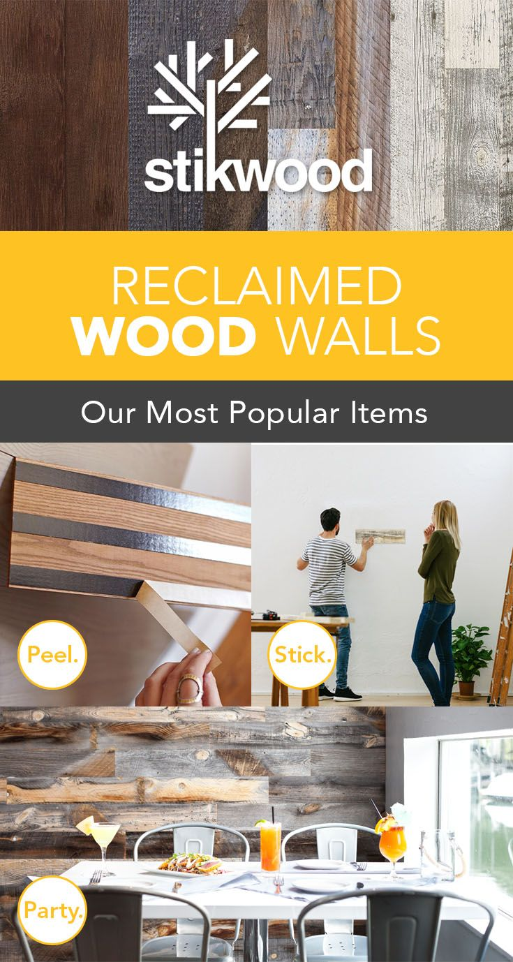 Easy-To-Install Reclaimed Wood Walls - Rethink Your Space! | Home ...