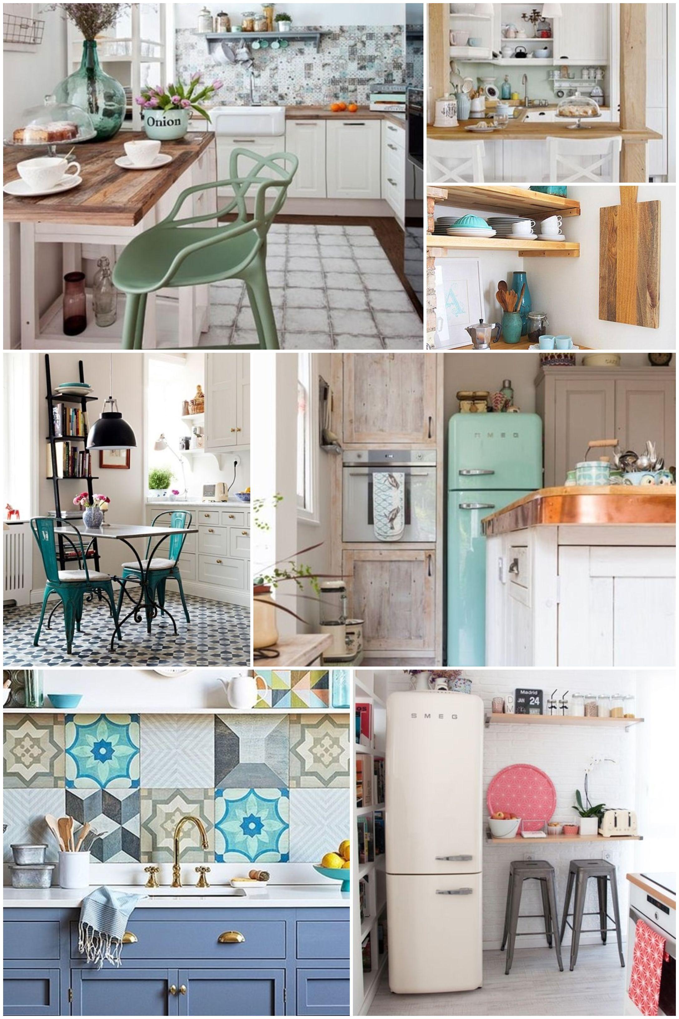 Cocinas vintage decoraci n de cocinas con estilo vintage cocinas cocina vintage cocinas - Muebles de cocina estilo retro ...