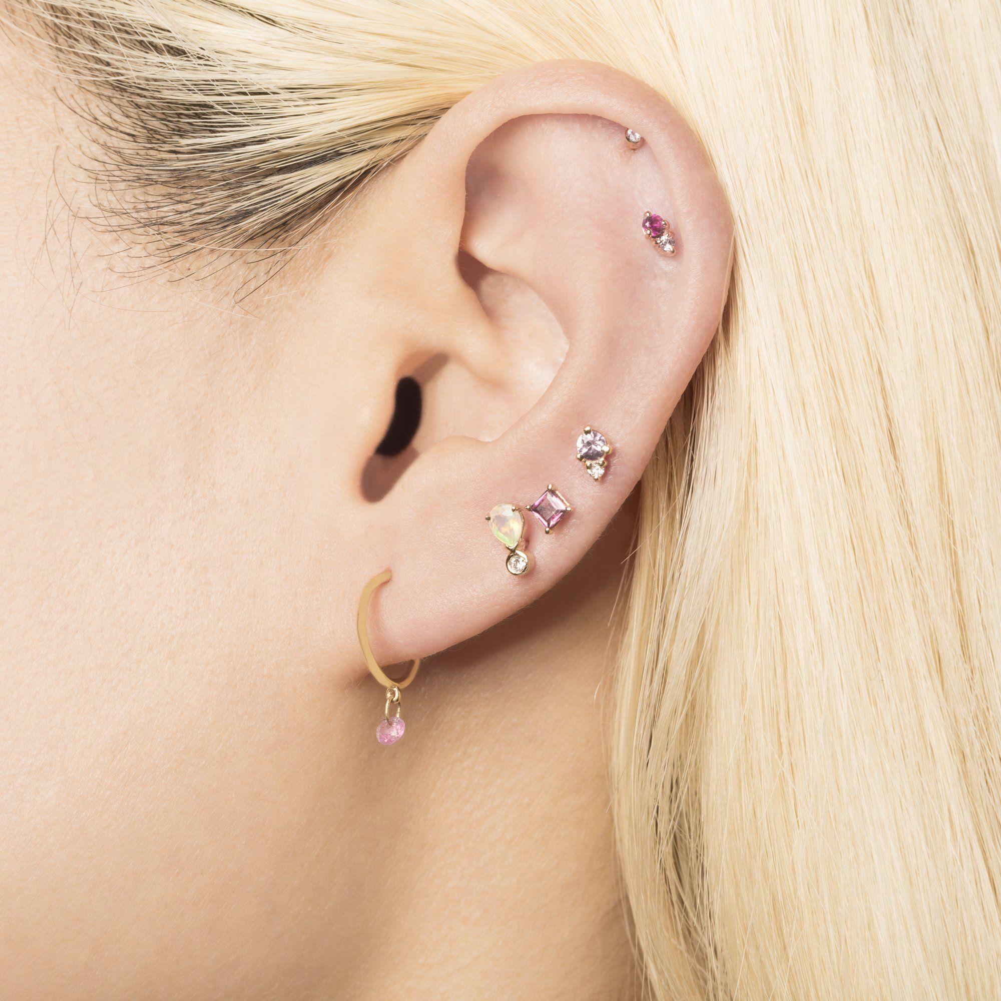 87ecacaef Pear Opal and Teeny Diamond Stud in 2019 | Wish List | Diamond studs ...