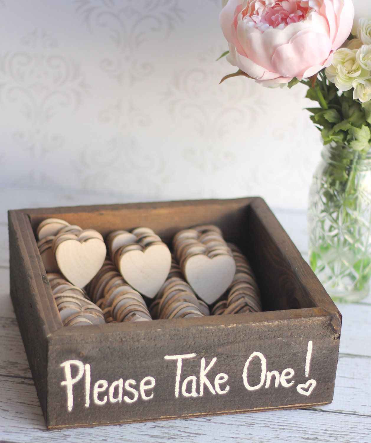 Wedding favor Idea... Chalkboard hearts with a cute saying on them ...