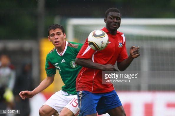 Hector Moreno of Mexico National Team fights for the ball with Jarju  Mustapha of Gambia National Team du… | Mexico national team, National  football, Football photos