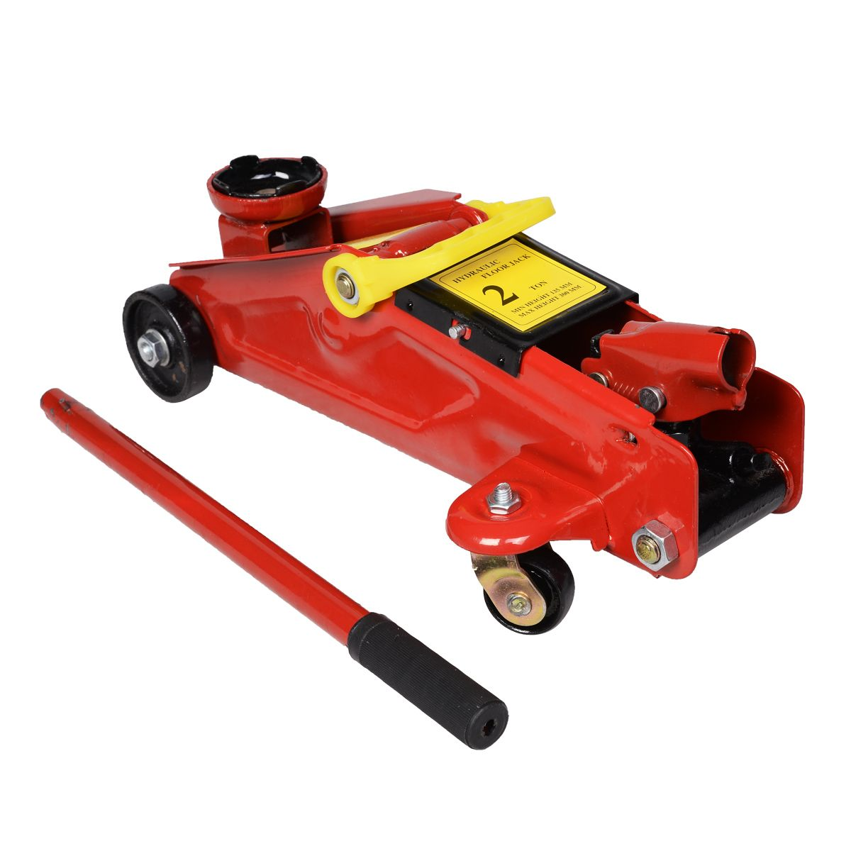 NEW 2 Ton Hydraulic Floor Jack On Wheels With Case Tool