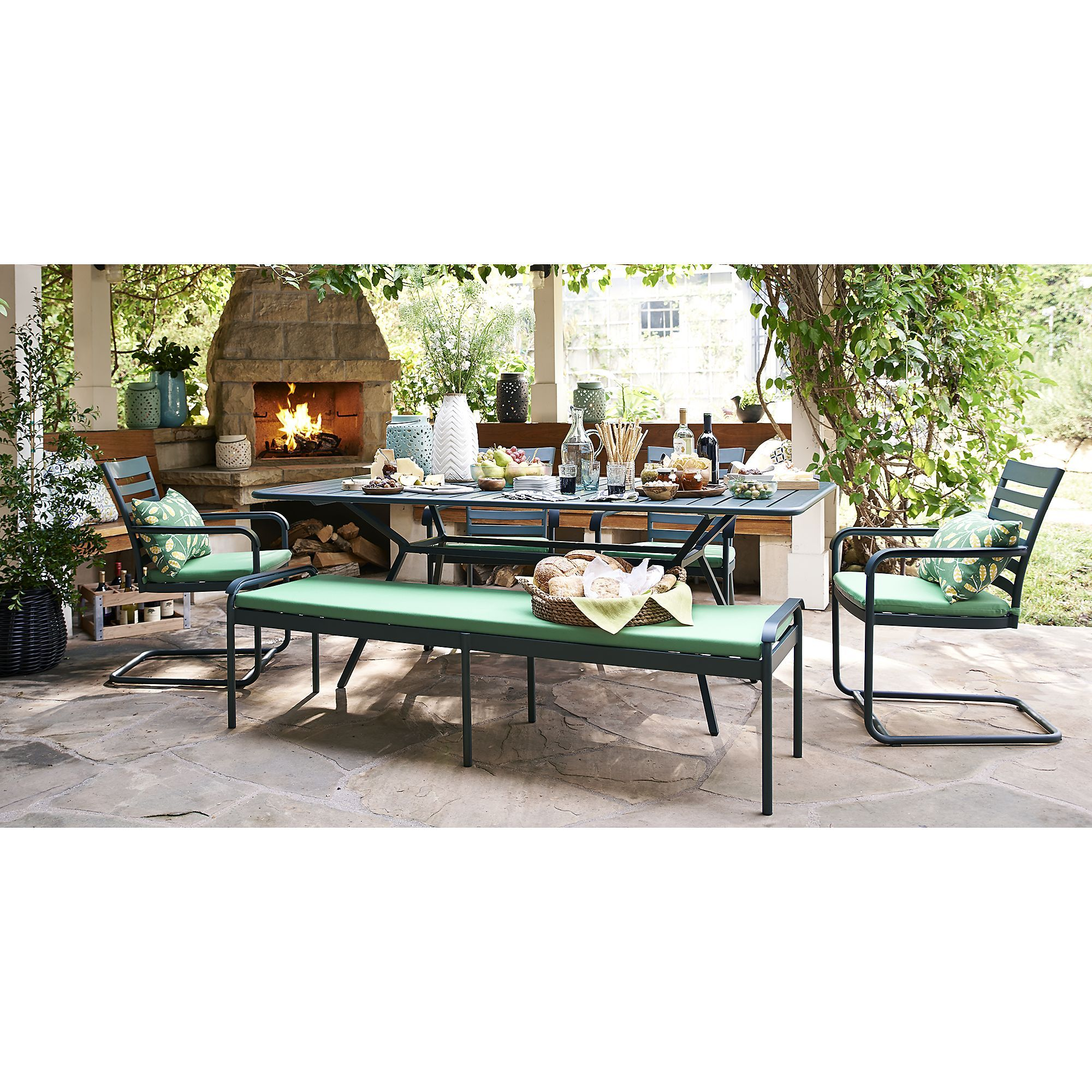 Orleans 91 5 Large Rectangular Dining Table In Outdoor Dining