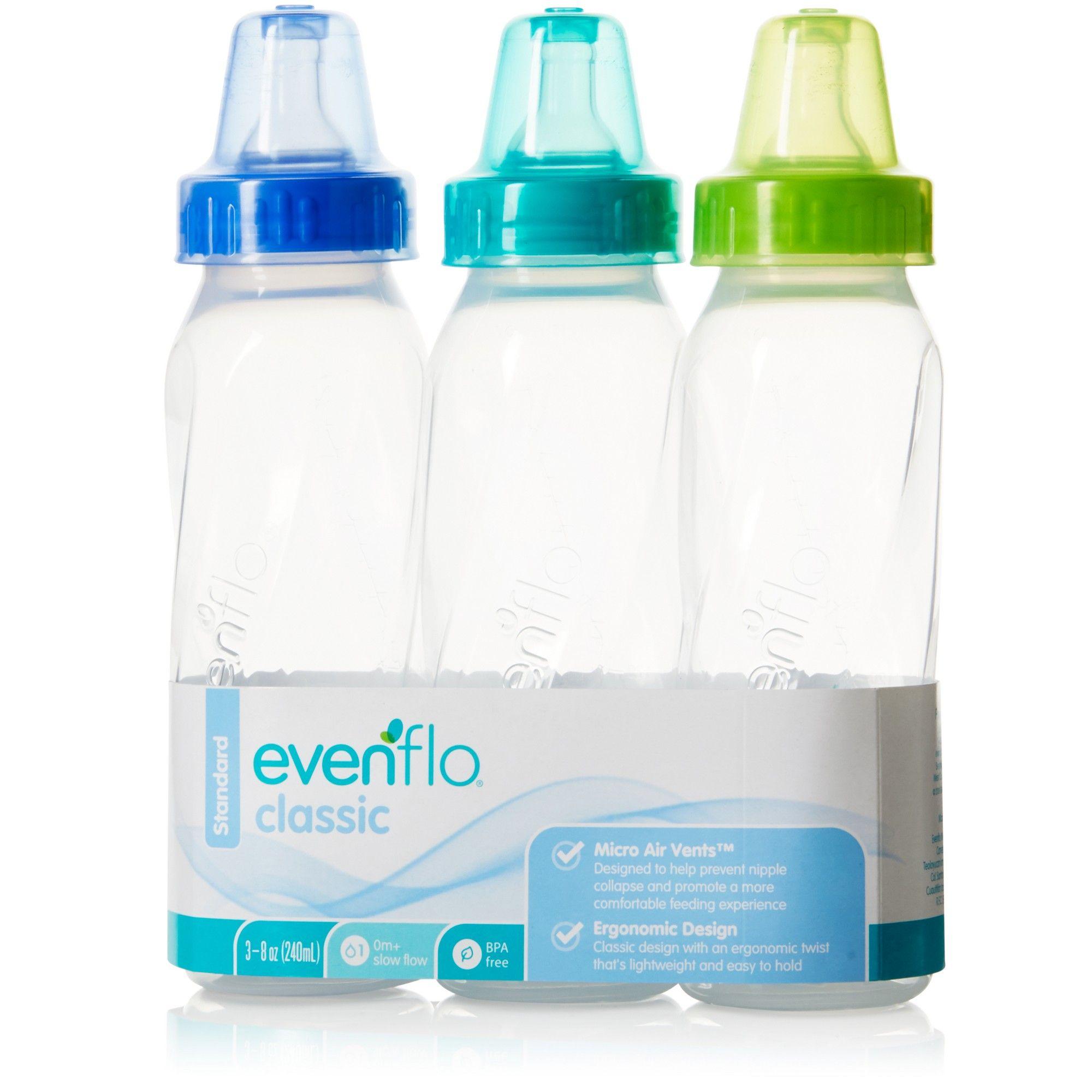Evenflo Classic 3 Pack Bottles 8 Oz Bottles