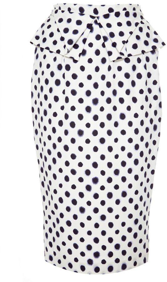 Saloni M'O Exclusive : Anabelle Embossed Taffeta Skirt