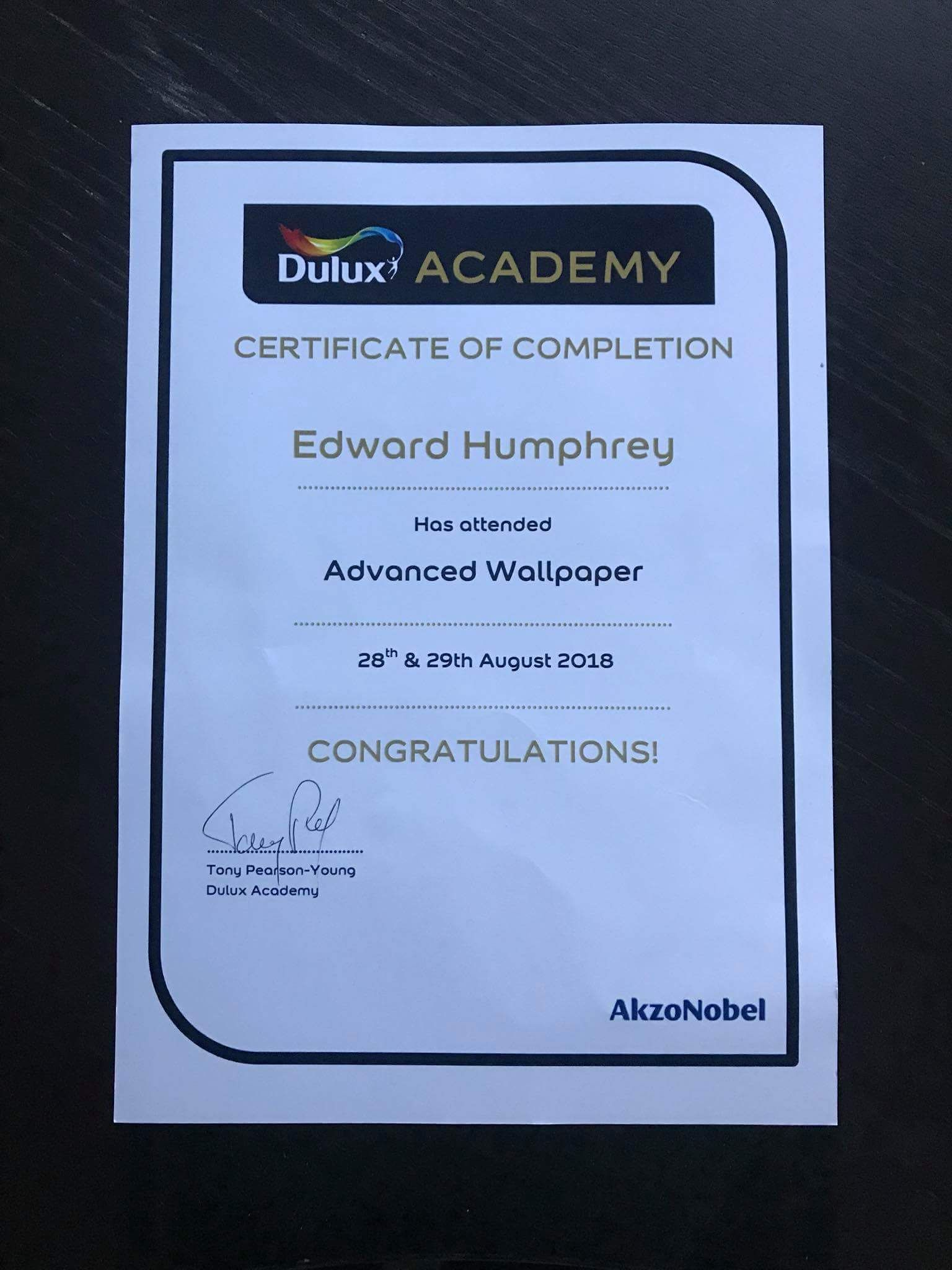 Image Result For Dulux Academy Certificates