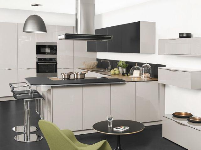 Cuisine design blanche grise darty id es pour maison for Cuisine blanche grise
